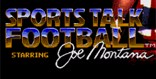 Joe Montana Sports Talk Football