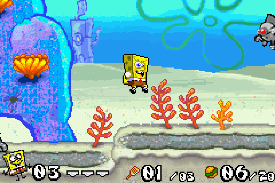 Review gba battle for bikini bottom