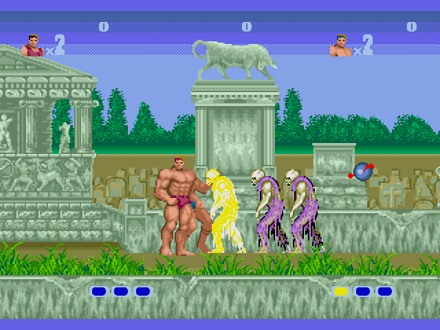 Altered Beast Game Over Altered Beast