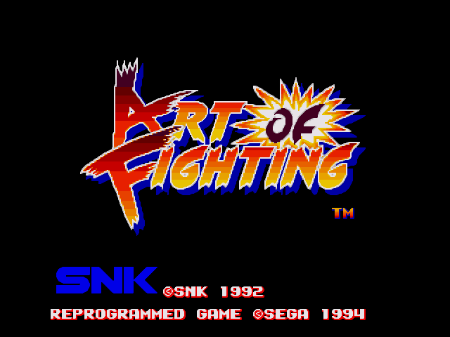 Splash screen of the game