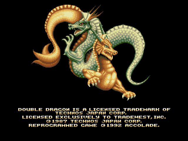 Double Dragon splash screen