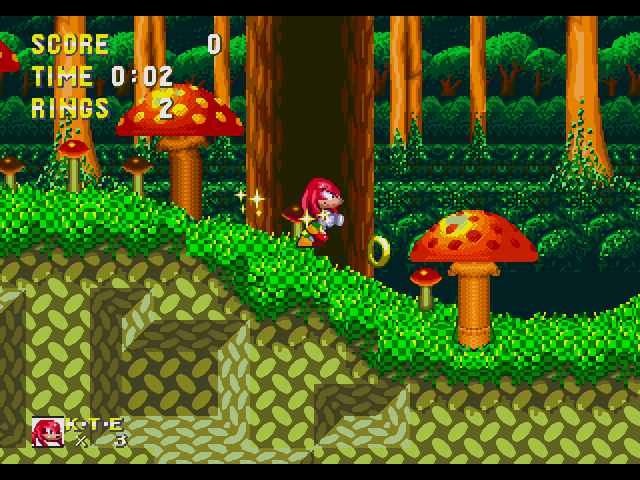 You can play level with Knuckles