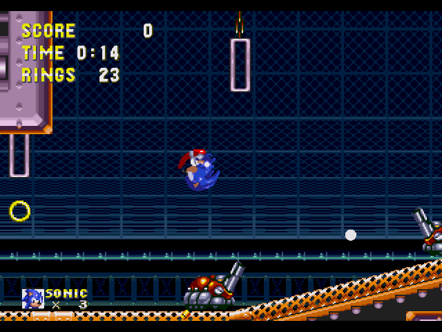 Destoing robots is so easy work for Sonic