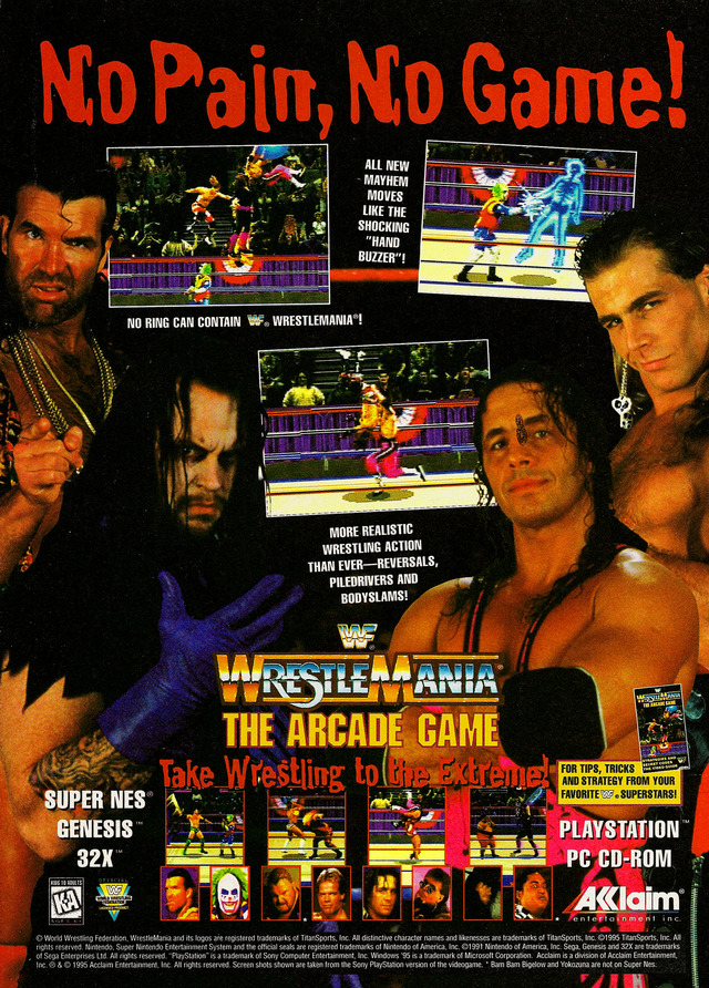 Was Wwf Wrestlemania The Arcade Game Supposed To Have Fatalities In It Resetera