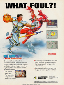 Bill Laimbeer's Combat Basketball Poster