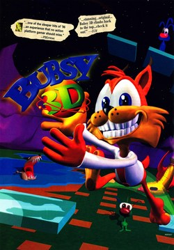 Bubsy 3D Poster
