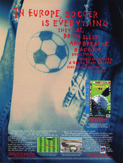Championship Soccer '94 Poster