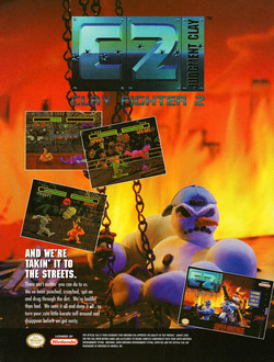ClayFighter 2: Judgement Clay Poster