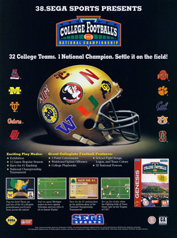 College Football's National Championship Poster