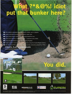 Customplay Golf Poster
