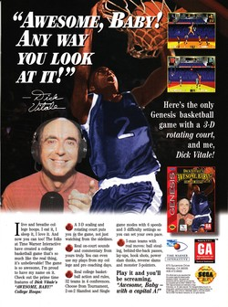 Dick Vitale's Awesome Baby! College Hoops Poster