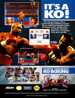George Foreman's Knock-out Boxing Poster
