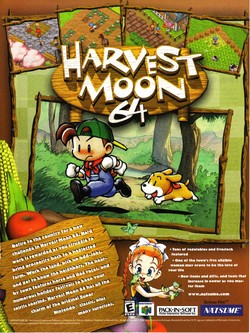 Harvest Moon 64 Poster