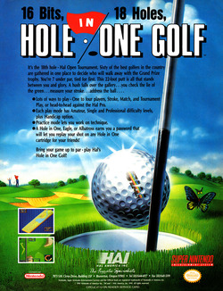 Hal's Hole in One Golf Poster