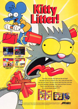 The Simpsons - The Itchy and Scratchy Game Poster