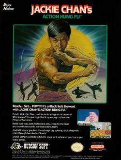 Jackie Chan's Action Kung Fu Poster