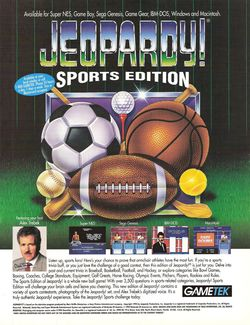 Jeopardy Sports Edition Poster