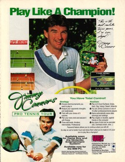 Jimmy Connors Pro Tennis Tour Poster