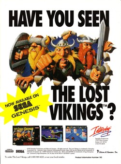 The Lost Vikings Poster