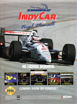 Michael Andretti's Indy Car Challenge Poster