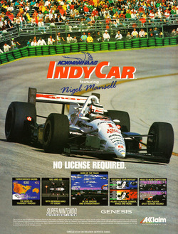 Newman-Haas Indy Car Racing Poster