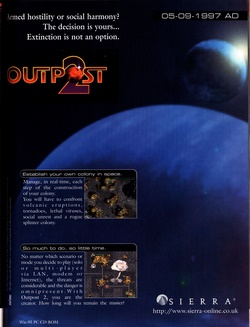 Outpost 2: Divided Destiny Poster
