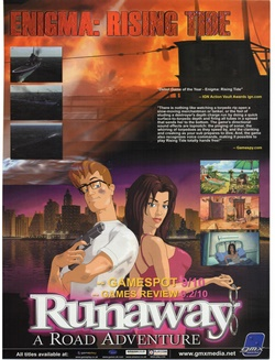 Runaway: A Road Adventure Poster