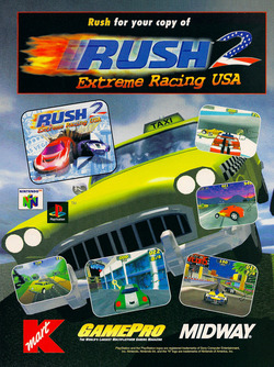 Rush 2: Extreme Racing USA Poster