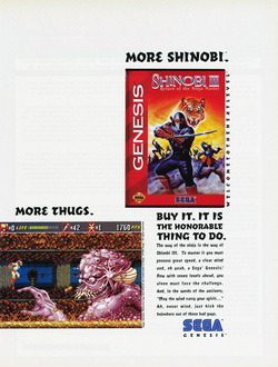 Shinobi 3 - Return of the Ninja Master Poster