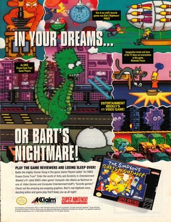 The Simpsons: Bart's Nightmare Poster