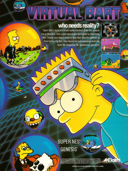 The Simpsons - Virtual Bart Poster