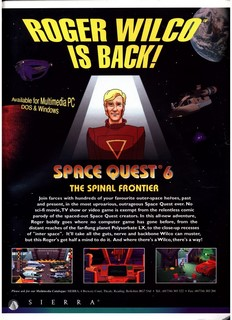 Space Quest 6: Roger Wilco in the Spinal Frontier Poster