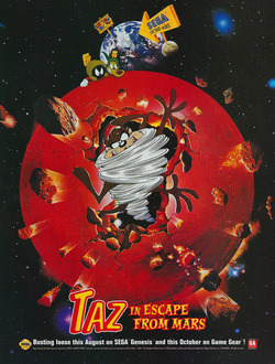 Taz in Escape From Mars Poster