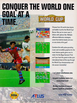 Tecmo World Cup 92 Poster