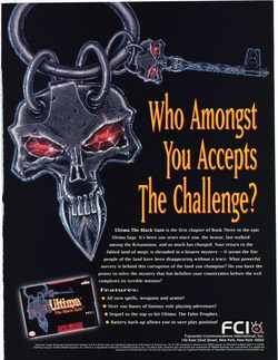 Ultima 7: The Black Gate Poster