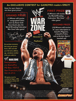 WWF War Zone Poster