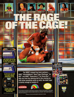 WWF Wrestlemania Steel Cage Challenge Poster