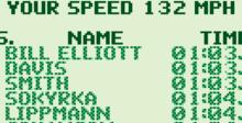Bill Elliott's NASCAR Fast Tracks Gameboy Screenshot