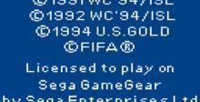 World Cup Usa 94 GameGear Screenshot