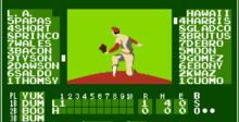 Bases Loaded NES Screenshot