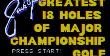 Jack Nicklaus' Major Championship Golf NES Screenshot
