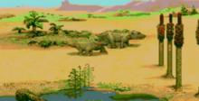 Magical Dinosaur Tour PC Engine Screenshot