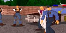 Virtua Cop Saturn Screenshot