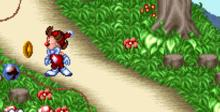 Kid Klown in Crazy Chase SNES Screenshot