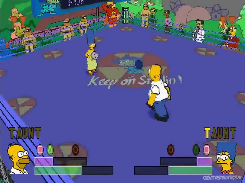 The Simpsons Wrestling Homer Vs Willie