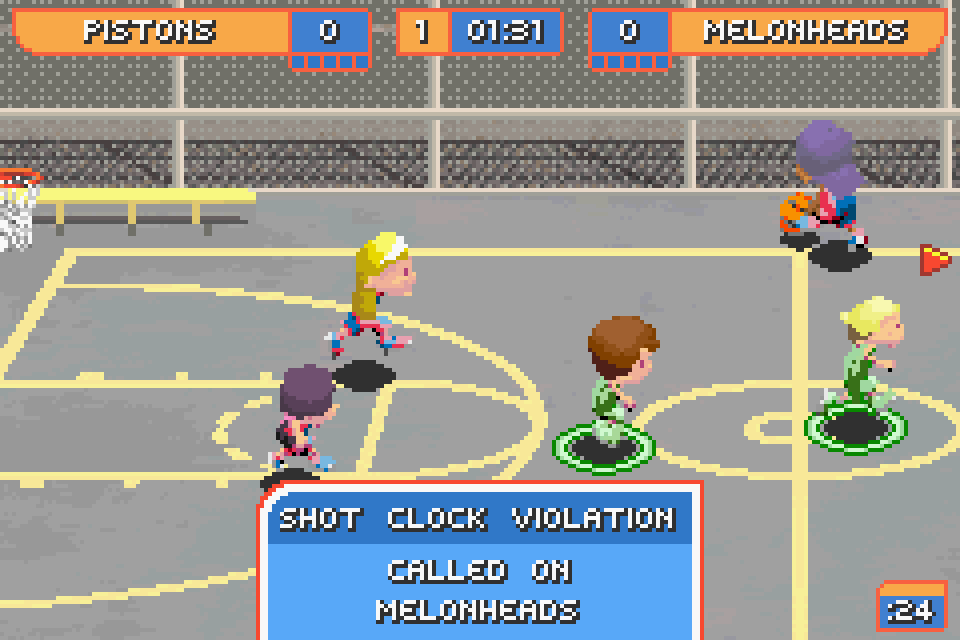 ... Backyard Basketball GBA Screenshot ...