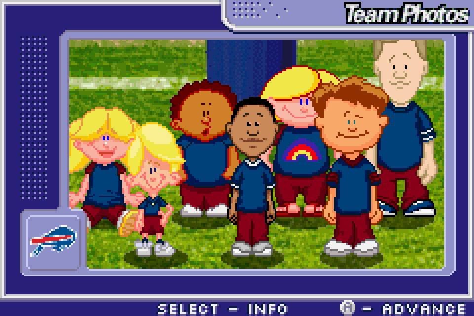 ... Backyard Football GBA Screenshot ...