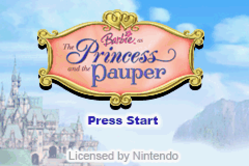 barbie princess and the pauper game instructions