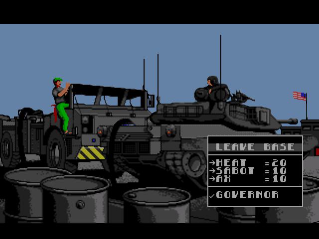 m-1 abrams battle tank (genesis   mega drive) (box cover) art