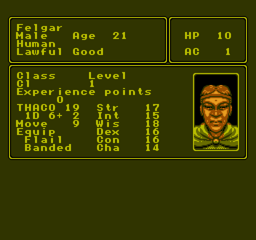 Advanced Dungeons and Dragons: Pool of Radiance Screenshots